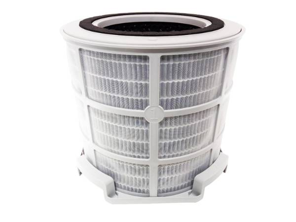 A basket shaped nylon mesh pre filter are installed outside of filter basket.