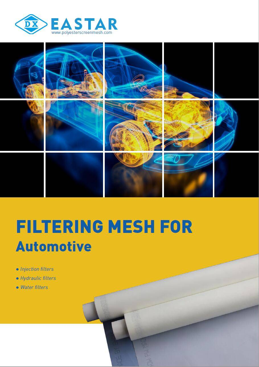 Nylon filtering mesh in automotive applications.
