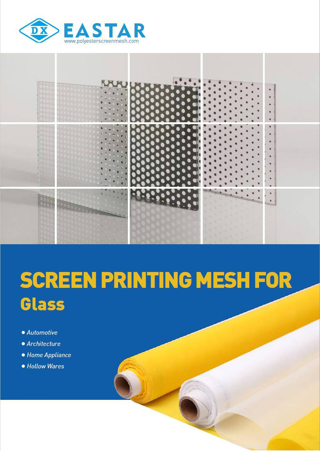 Polyester screen printing mesh for glass screen printing.