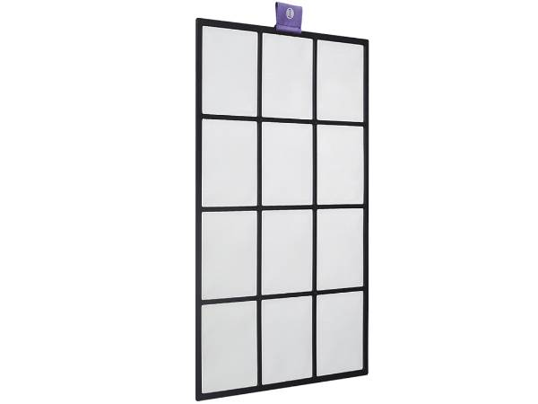 A piece of nylon filter mesh panel on white background.