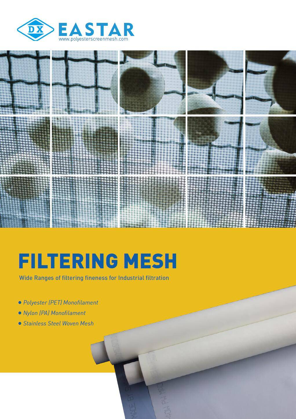 A bottom view of nylon sieving mesh.