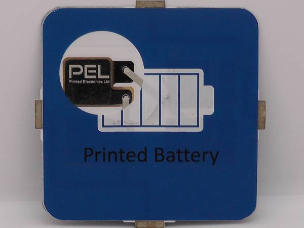 A batteries with clear screen printed information.